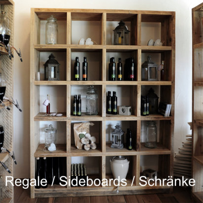 Regale Sideboards | Bauholz-Regal - Quadratregal
